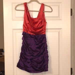 NWT Express Two-Toned Silk Short Dress - Size 0